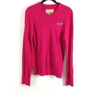 Hollister Womens V-Neck Jumper Sweater Size M